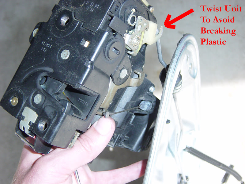 vw door latch \u0026 the picture below shows the lock module separated